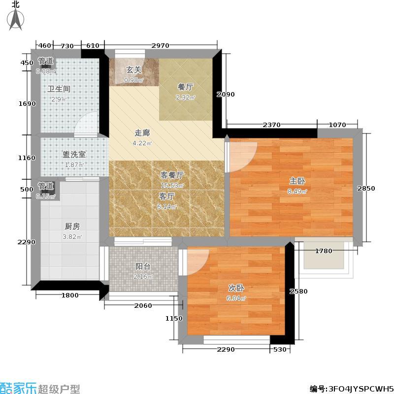 乐信爱琴屿46.38㎡三期5号楼标准层2-01/2-12户型