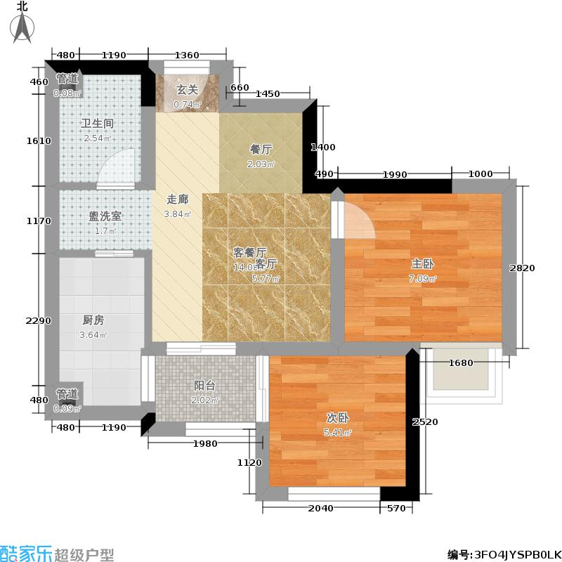乐信爱琴屿41.97㎡二期1号楼标准层1、12号户型