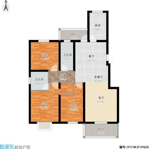 天境3室1厅2卫1厨148.00㎡户型图