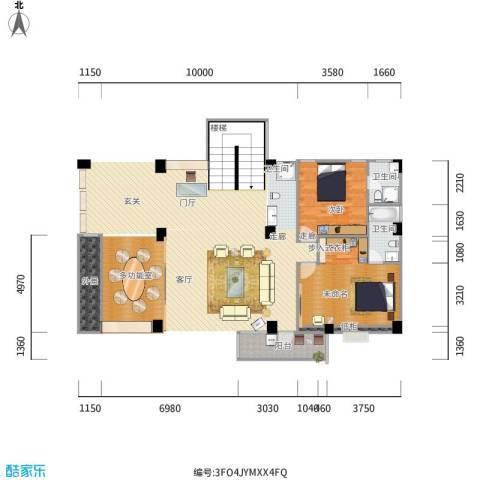 世纪华庭顶楼复式3层