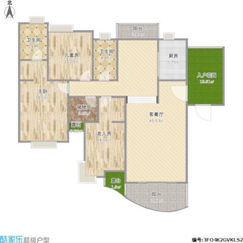 怡丰新城3室1厅2卫1厨178.00㎡户型图