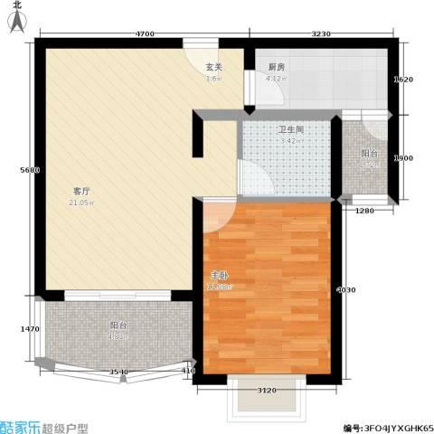海逸公寓1室1厅1卫1厨55.00㎡户型图
