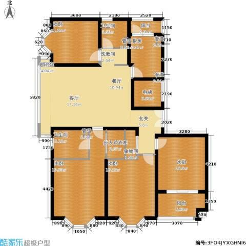 海逸公寓4室0厅2卫1厨230.00㎡户型图