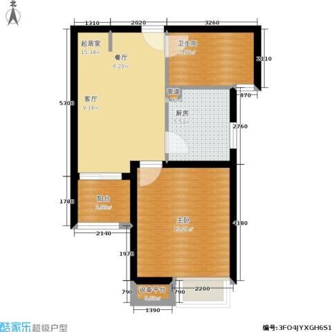 海逸公寓1室0厅1卫1厨51.00㎡户型图