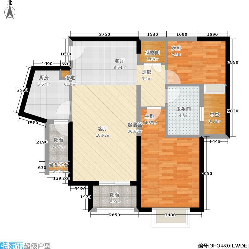 鑫苑国际城市花园89.00㎡A-2/A-5户型