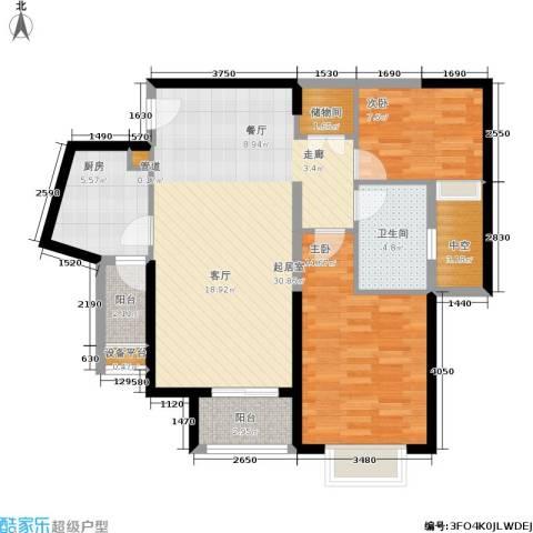 鑫苑国际城市花园2室0厅1卫1厨89.00㎡户型图