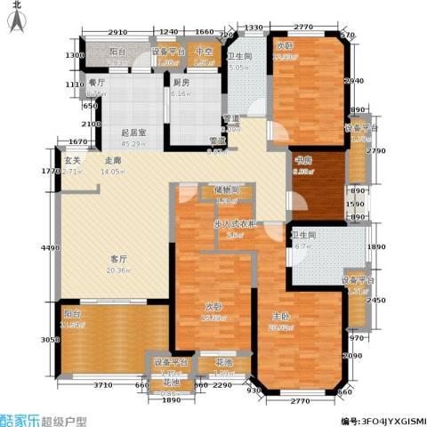 海逸公寓4室0厅2卫1厨168.00㎡户型图