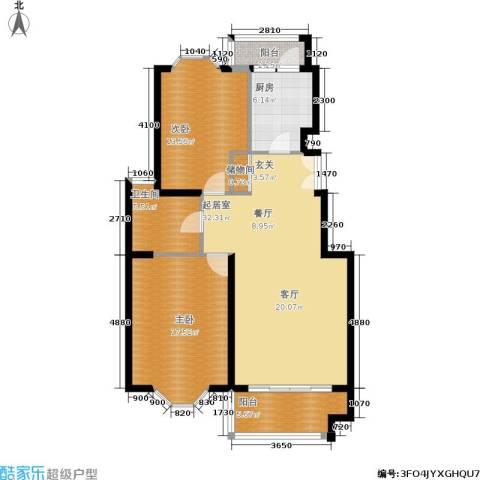 海逸公寓2室0厅1卫1厨98.00㎡户型图