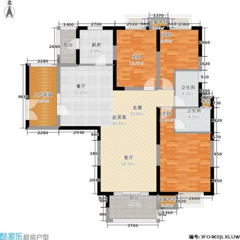 鑫苑国际城市花园3室0厅2卫1厨141.00㎡户型图