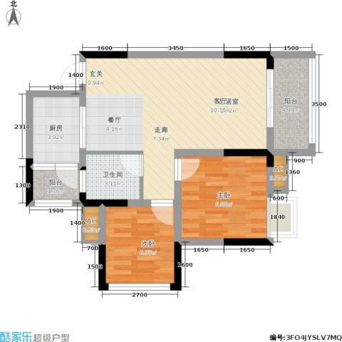 科艺花漾年2室0厅1卫1厨69.00㎡户型图