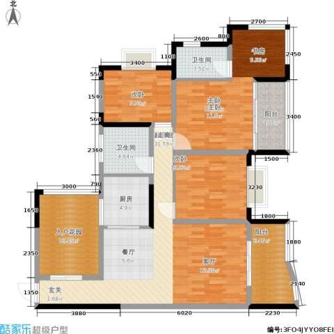 渝安金港尚城3室0厅2卫1厨101.11㎡户型图