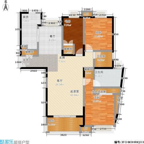 舒诗康庭3室0厅2卫1厨124.00㎡户型图