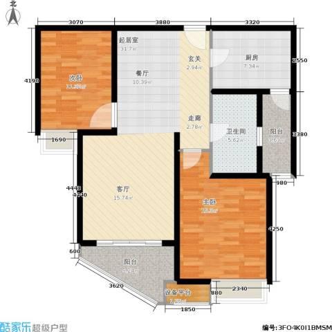 利丰苑2室0厅1卫1厨115.00㎡户型图