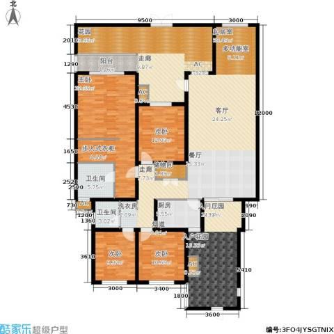 奇峰云邸4室0厅2卫1厨190.76㎡户型图
