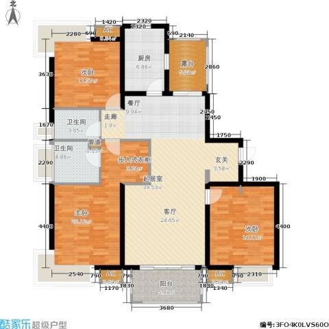 绿地梧桐院3室0厅2卫1厨122.00㎡户型图