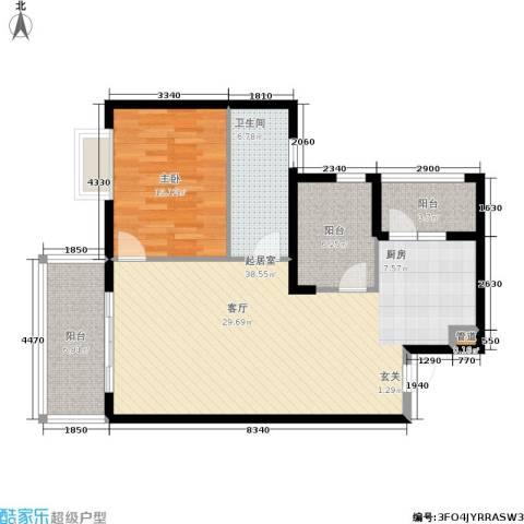 庆业巴蜀城1室0厅1卫0厨85.00㎡户型图
