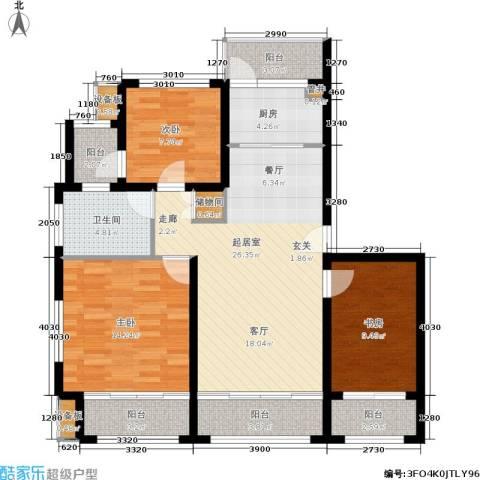 半岛托斯卡纳3室0厅1卫1厨98.00㎡户型图