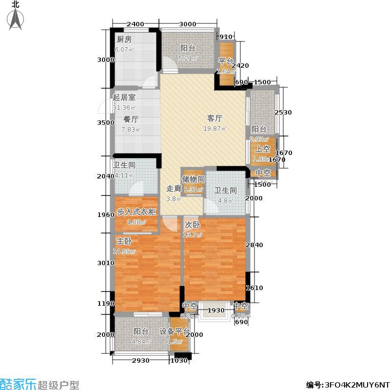 天阳尚城国际115.00㎡尚座户型3室2厅2卫