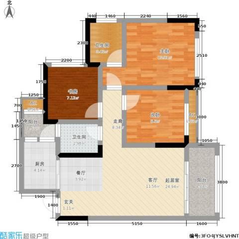 科艺花漾年3室0厅2卫1厨96.00㎡户型图