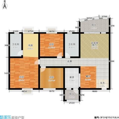 聚慧雅苑3室0厅2卫1厨164.00㎡户型图