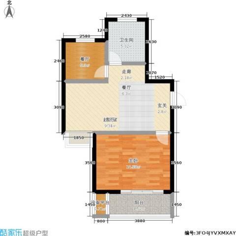 盛达家园1室1厅1卫0厨59.00㎡户型图