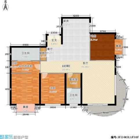财富海景花园3室0厅2卫0厨185.00㎡户型图