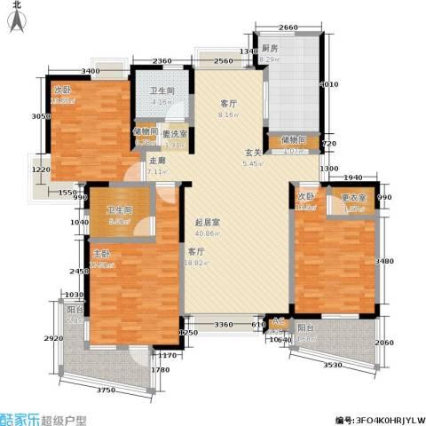舒诗康庭3室0厅2卫1厨132.00㎡户型图