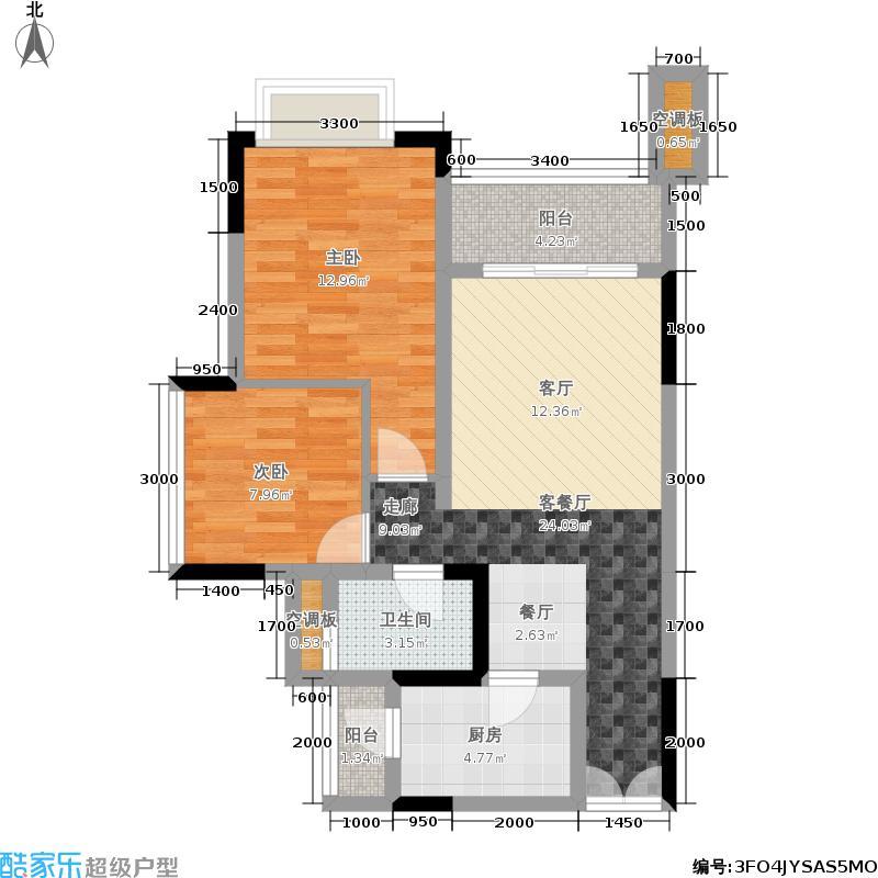 晋愉V时代63.00㎡一期8号楼标准层G户型