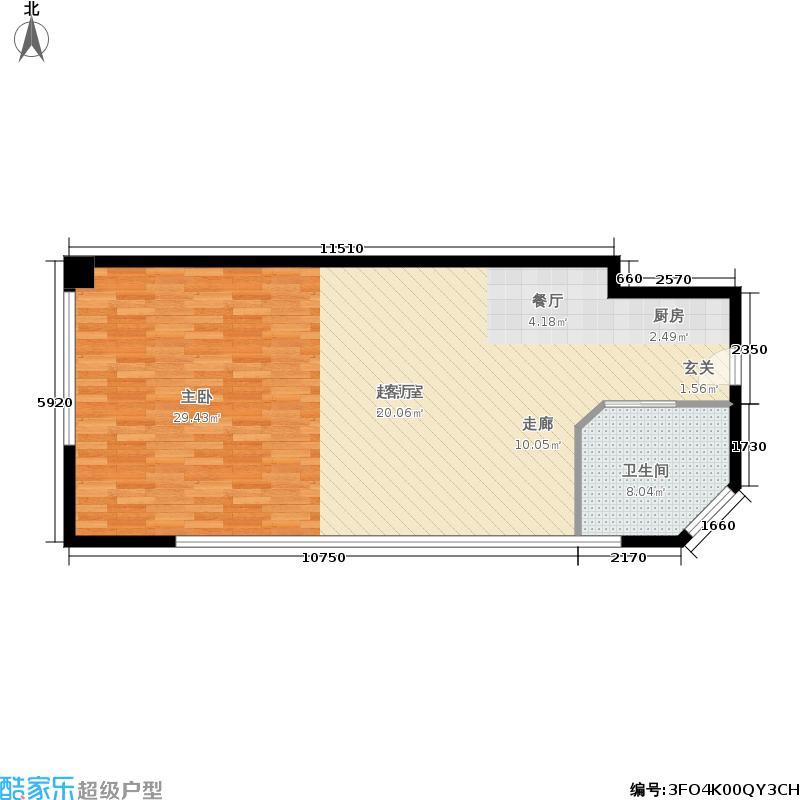 阅江广场81.00㎡面积8100m户型