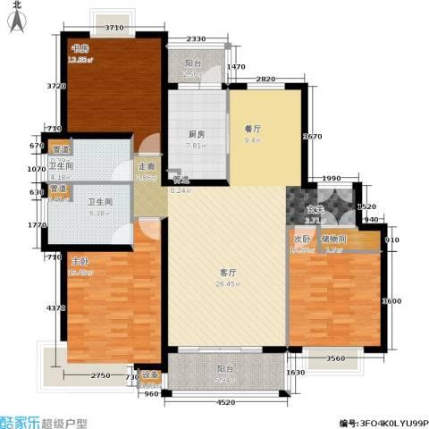 恒大翰城瀚锦苑3室0厅2卫0厨158.00㎡户型图