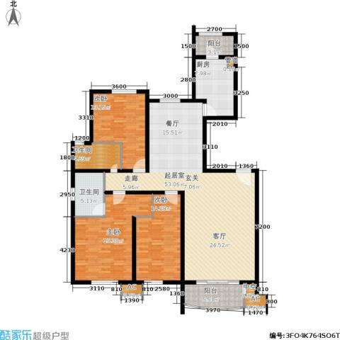 兴蒙时代广场3室0厅2卫1厨145.72㎡户型图