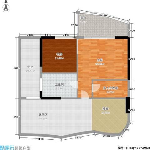 海棠晓月怡景天域2室0厅1卫0厨256.00㎡户型图