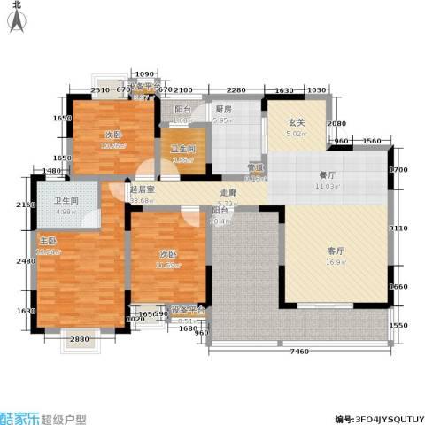 廊桥水岸3室0厅2卫1厨137.00㎡户型图