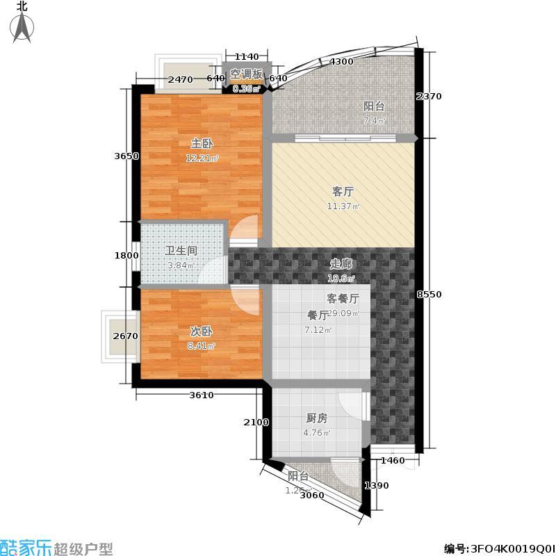 紫晶丽苑75.58㎡7面积7558m户型
