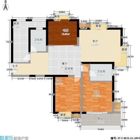 世博花园2室0厅2卫1厨135.00㎡户型图