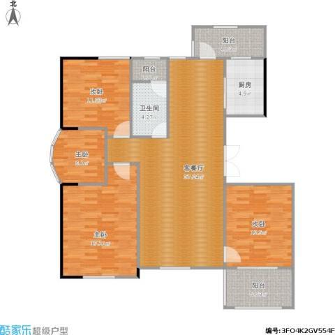 清水绿园4室1厅1卫1厨142.00㎡户型图