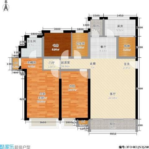 城中四季3室0厅2卫1厨150.00㎡户型图