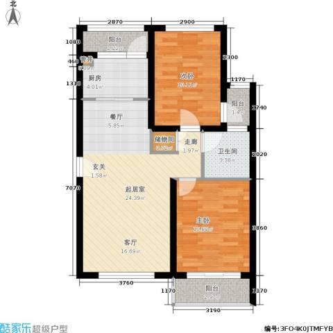 半岛托斯卡纳2室0厅1卫1厨70.00㎡户型图