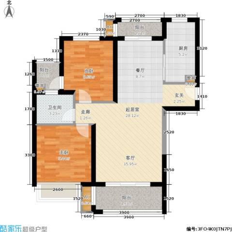 半岛托斯卡纳2室0厅1卫1厨75.00㎡户型图