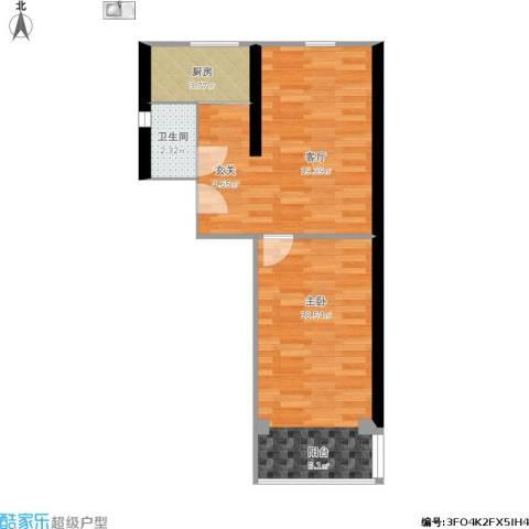 酒仙桥三街坊1室1厅1卫1厨70.00㎡户型图