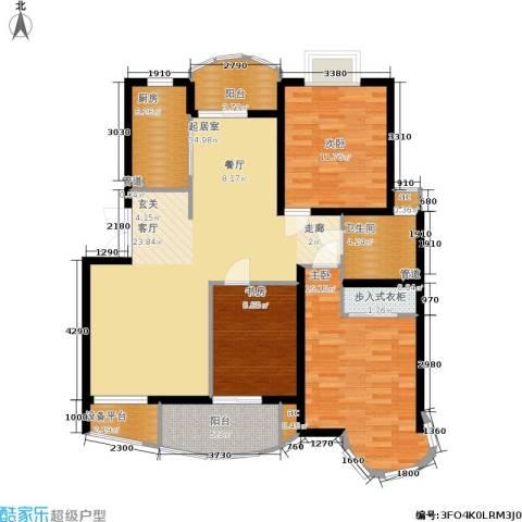 翡翠上南3室0厅1卫1厨108.00㎡户型图