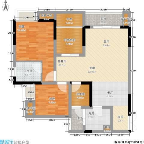 万友七季城四期七季城品2室1厅2卫1厨78.00㎡户型图
