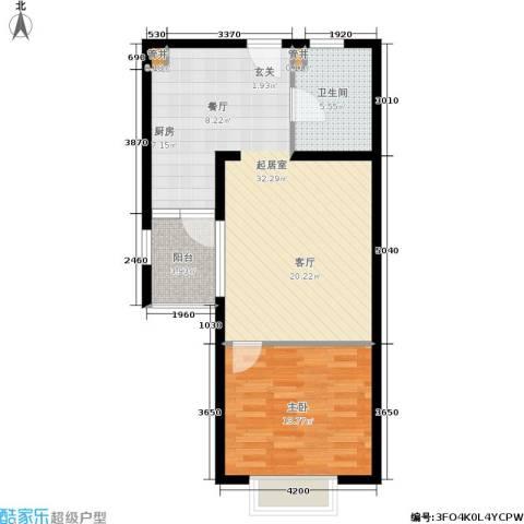 黄浦众鑫城1室0厅1卫0厨120.00㎡户型图