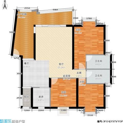 遵大蓝湖丽都3室0厅2卫1厨121.00㎡户型图