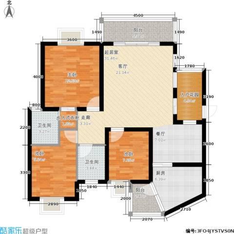 遵大蓝湖丽都3室0厅2卫1厨114.00㎡户型图