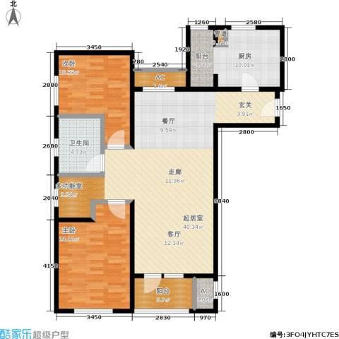 季景华庭2室0厅1卫1厨100.00㎡户型图