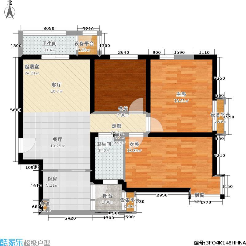 尚品美地城96.58㎡11号楼12号楼C户型3室2厅