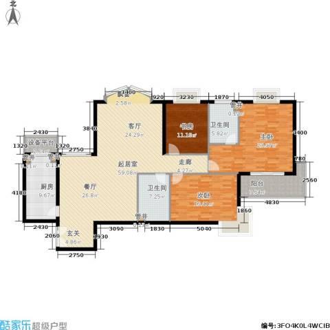 黄浦众鑫城3室0厅2卫1厨159.00㎡户型图