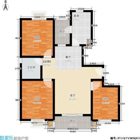 上大阳光乾和园3室0厅1卫1厨125.00㎡户型图