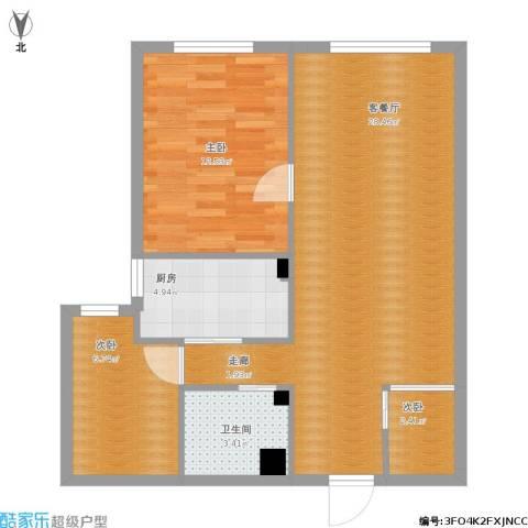 永升嘉园3室1厅1卫1厨82.00㎡户型图